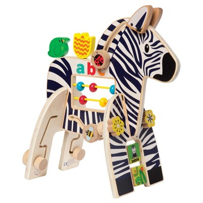Manhattan Toy Wooden Activity for 1 Year and Up - Zebra
