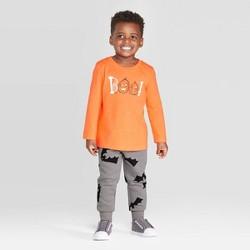 Toddler Boys' Boo Long Sleeve T-Shirt and Fleece Jogger Set - Cat & Jack™ Orange