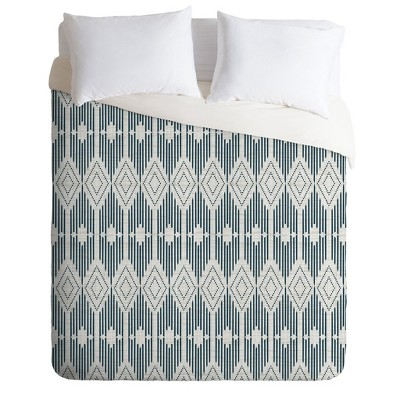 Heather Dutton West End Midnight Duvet Set - Deny Designs