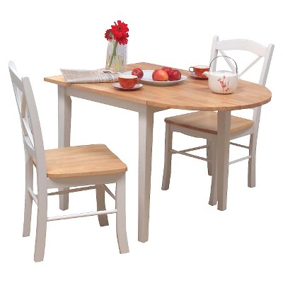 Dining Chair Wood Natural White Tms