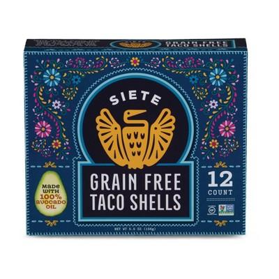 Siete Grain Free, Gluten Free Taco Shells - 5.5oz/12ct