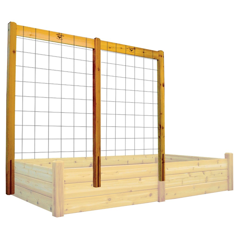 Image of 80 Raised Garden Bed Trellis Kit - Wood - Gronomics