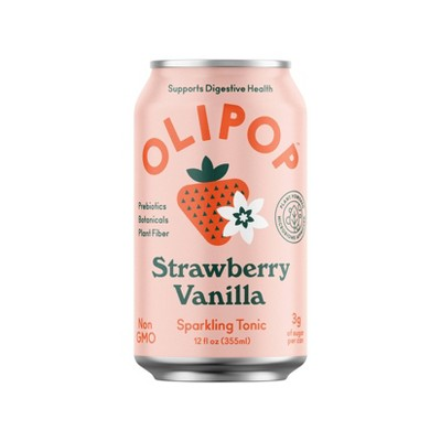 OLIPOP Strawberry Vanilla Sparkling Tonic - 12 fl oz