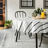 Striped Oil Canvas Tablecloth Black/White - Hearth & Hand™ with Magnolia - image 2 of 3