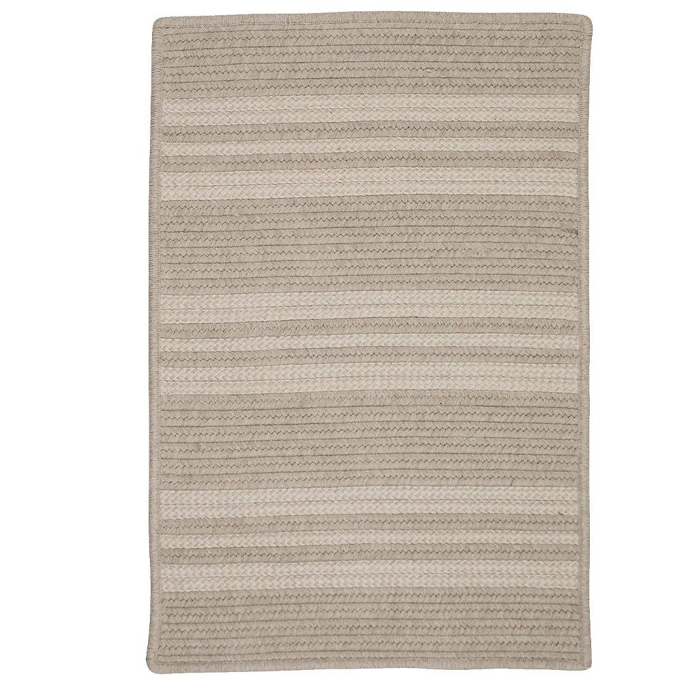 Sunbrella East Side Braided Area Rug Ash