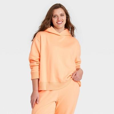 Women's Plus Size Hooded Sweatshirt - A New Day™ Orange 4X