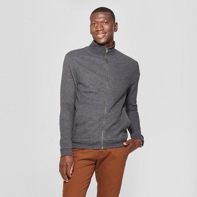 34c13590d2eb Men s Standard Fit Mock Collar Fleece Zip-Up Sweatshirt - Goodfellow ...