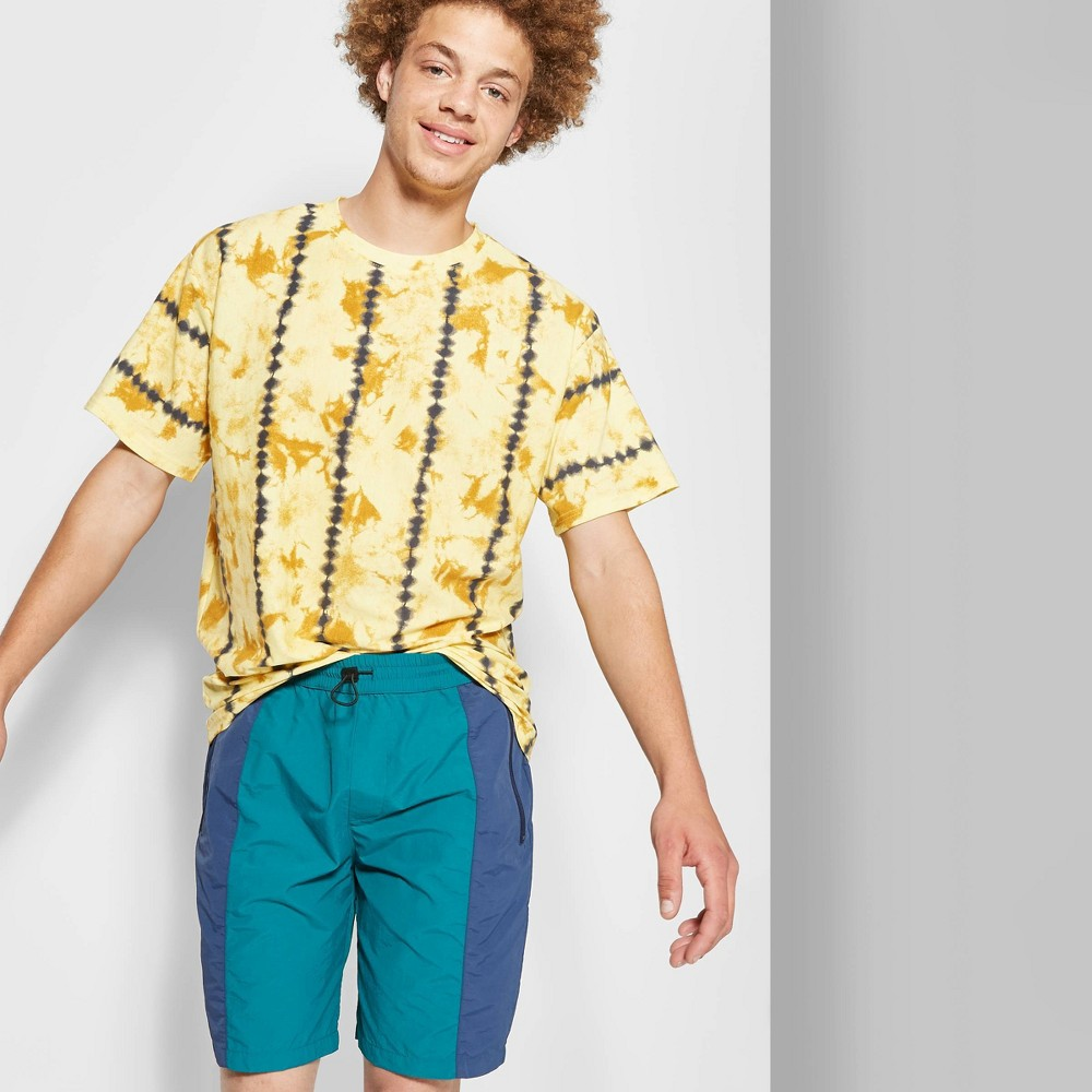 Image of Men's 8.5 Mid-Rise Nylon Shorts - Original Use Teal Blue 2XL