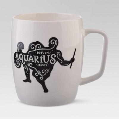 Porcelain Zodiac Aquarius Mug 18oz White - Threshold™