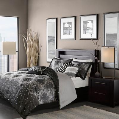 Black Garner Comforter Set (California King)7pc
