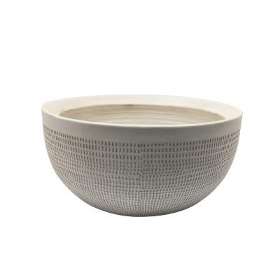 5.5  Textured Ceramic Planter - White - Threshold™