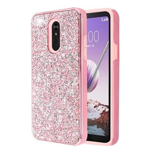 MYBAT For LG Stylo 5 Pink Mini Crystals Rhinestones Desire Hard Hybrid Case Cover - image 1 of 1