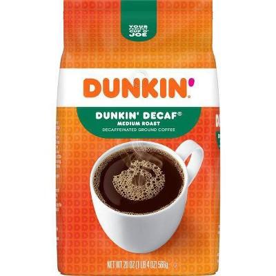 Dunkin' Dunkin' Decaf Ground Coffee Medium Roast - 20oz