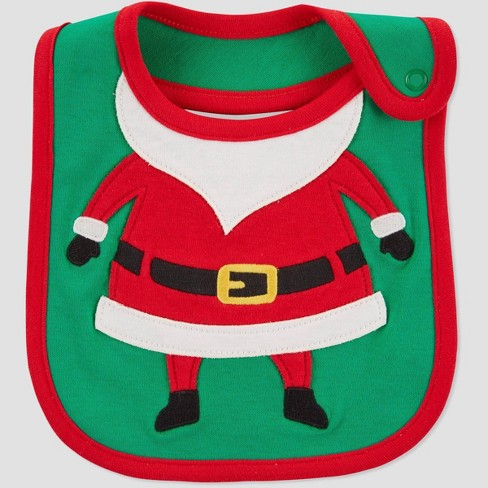 Baby Santa Christmas Bib - Just One You® made by carter's Green/Red - image 1 of 1