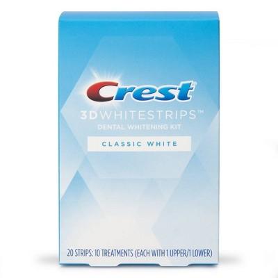 Crest 3D Whitestrips Classic White Teeth Whitening Kit - 10 Treatments