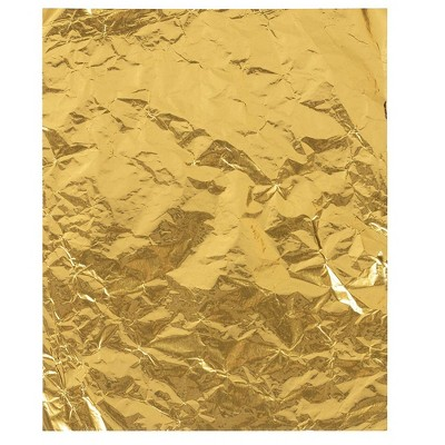 "Juvale 100 Pack Aluminum Foil Wrapping Paper for Sweets, Gold, 6"" x 7.5"""