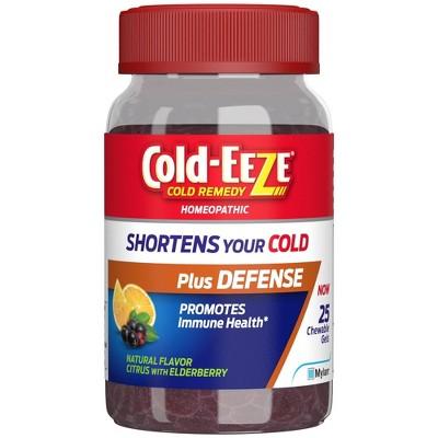 Cold-Eeze Plus Defense Citrus with Elderberry Chewable Gels - 25ct