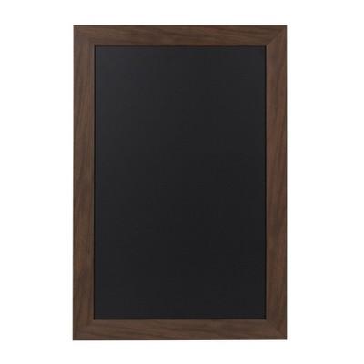 """27"""" x 18"""" Beatrice Framed Magnetic Chalkboard Walnut Brown - DesignOvation"""