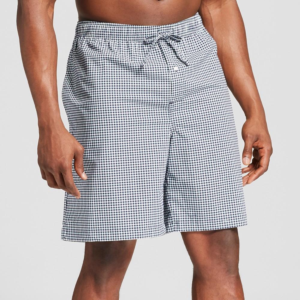Men's Big & Tall Plaid Woven Pajama Shorts - Goodfellow & Co Jamestown Blue 3XB