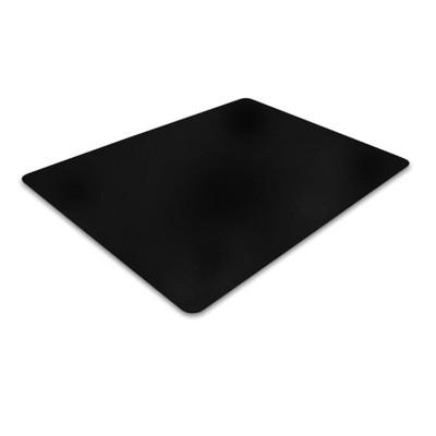Vinyl Chair Mat for Hard Floors Rectangular Black - Floortex
