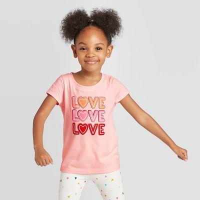 Toddler Girls' 'Love' Graphic T-Shirt - Cat & Jack™ Pink