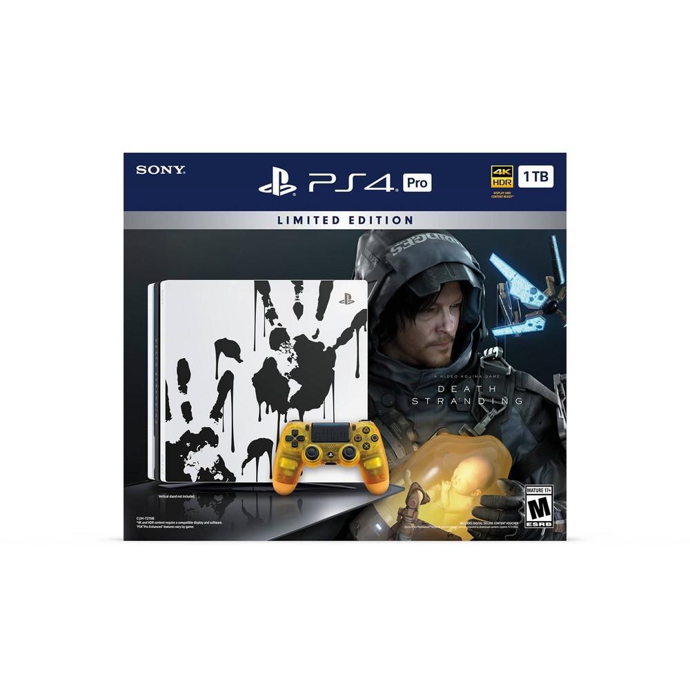 PlayStation 4 Pro 1 TB Death Stranding Limited Edition Console PlayStation 4 Pro 1 TB Death Stranding Limited Edition Console Color: Black. Gender: unisex.
