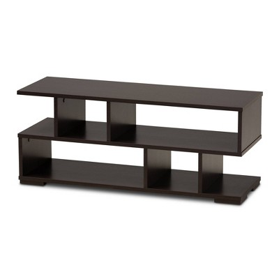 "32"" Arne Wood Tv Stand Dark Brown - Baxton Studio"