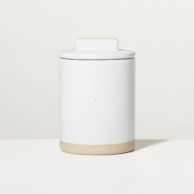 Small Speckled Matte Stoneware Canister Sour Cream/Tan - Hearth & Hand™ with Magnolia