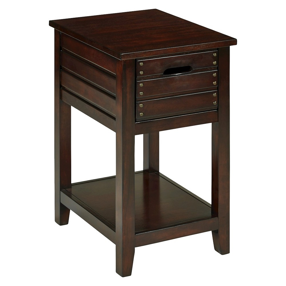 Camille Chair Side Table Walnut (Brown) - Osp Home Furnishings