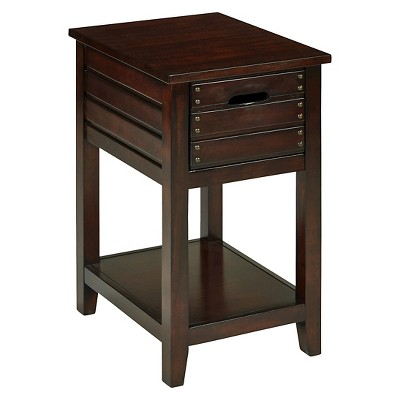 Attirant Camille Chair Side Table Walnut   OSP Home Furnishings