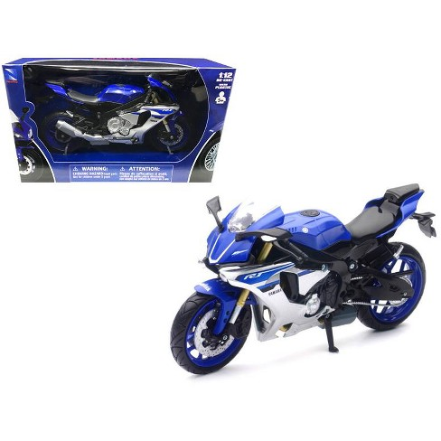 2016 Yamaha YZF-R1 Blue Motorcycle Model  1/12 by New Ray - image 1 of 1