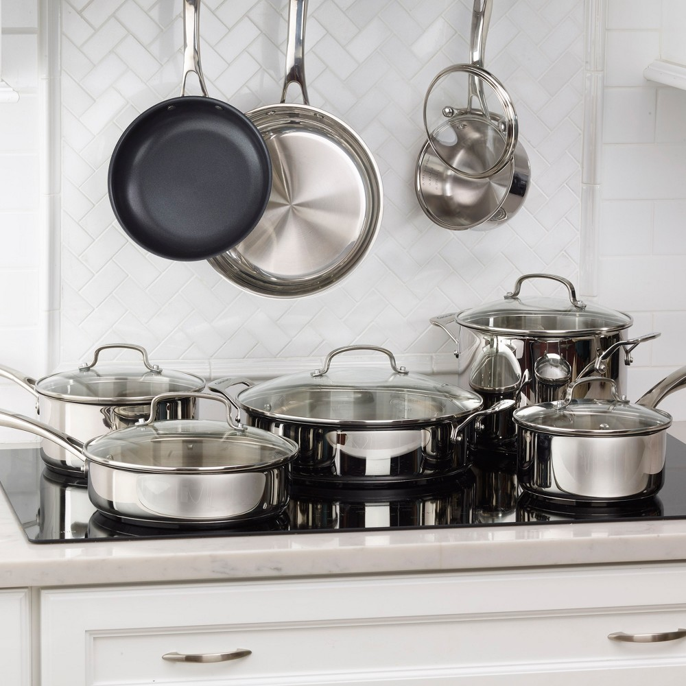 Image of Cuisinart 14pc Stainless Steel Cookware Set