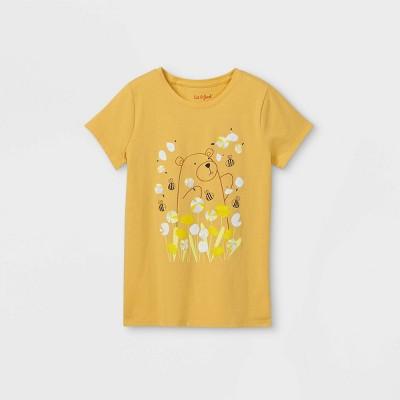 Girls' Prairie Bear Graphic Short Sleeve T-Shirt - Cat & Jack™ Light Mustard