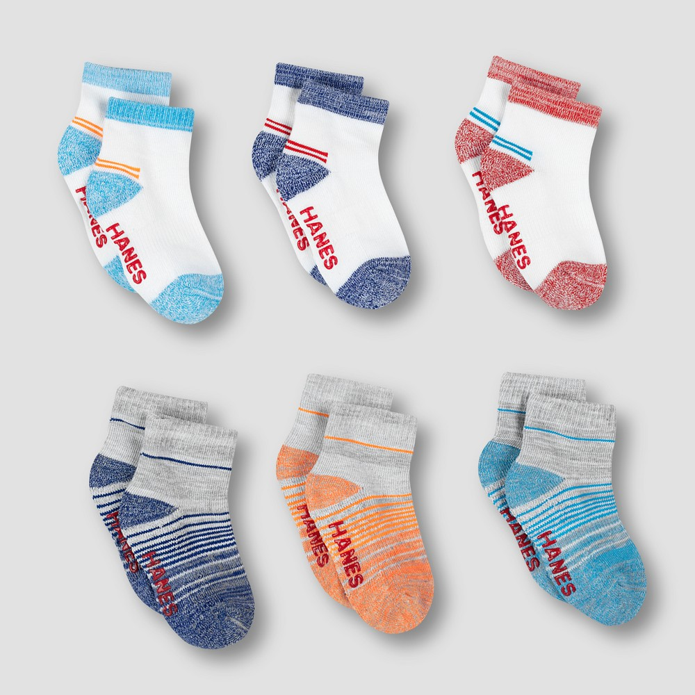Image of Baby Boys' 6pk Ankle Socks - Hanes Colors May Vary 12-24M, Toddler Boy's, MultiColored