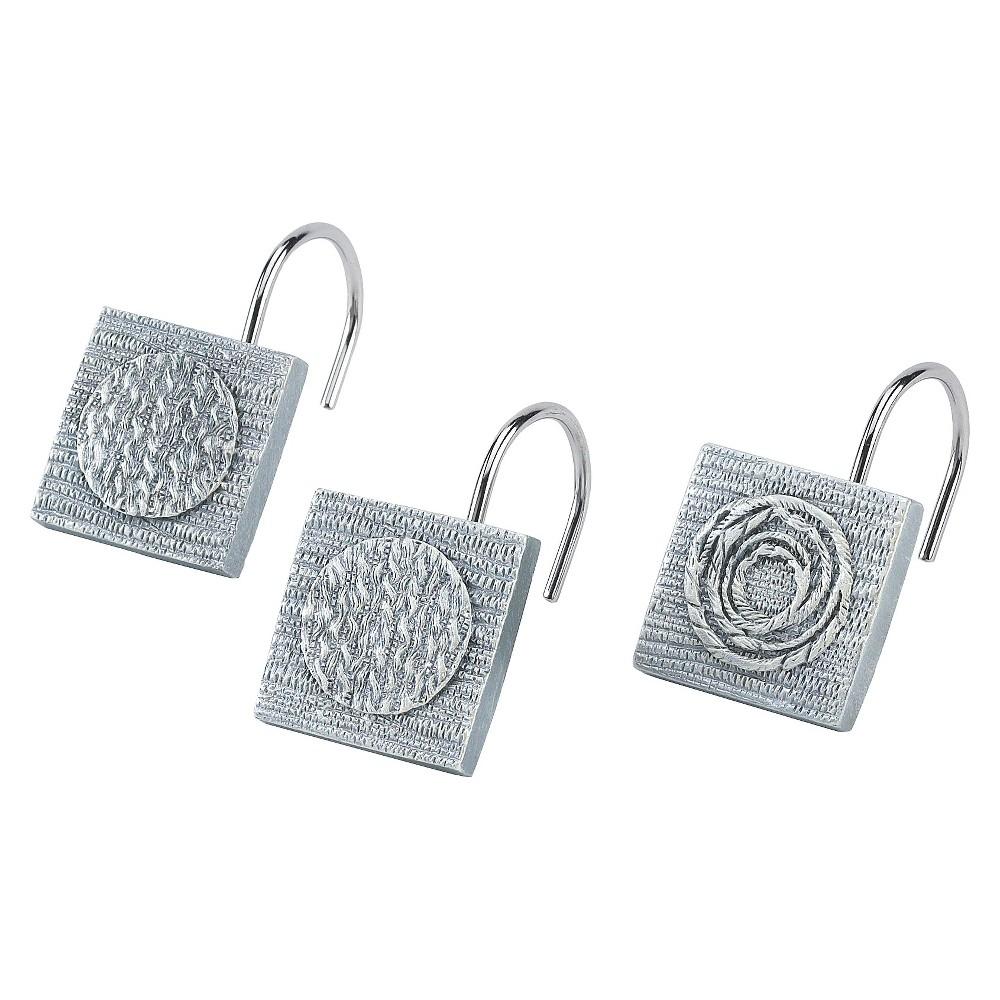 Galaxy Shower Hook Set Silver- Avanti Linens