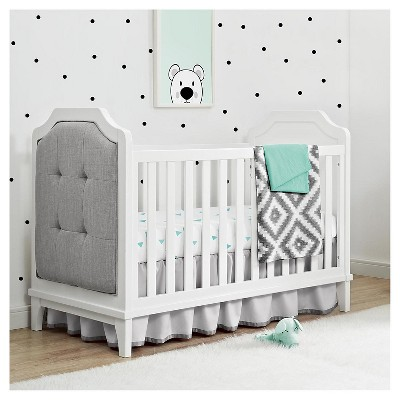 Baby Relax Luna 3 In 1 Upholstered Crib White Target