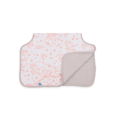 Little Unicorn Cotton Muslin Burp Cloth - Garden Rose