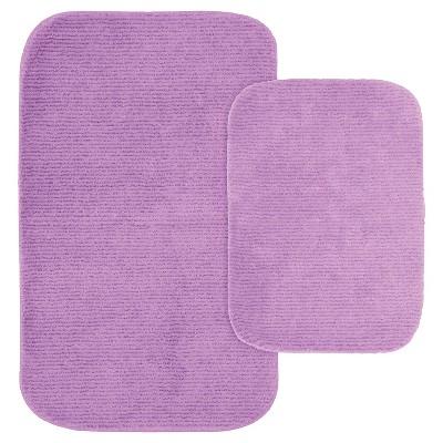 2pc Glamor Nylon Washable Bath Rug Set - Garland