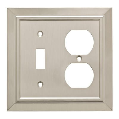 Franklin Brass Classic Architecture Switch/Duplex Wall Plate Nickel