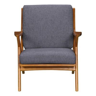 Celtic Mid-Century Accent Chair Dark Gray - Armen Living