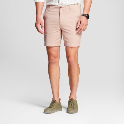 Men's 7  Linden Flat Front Chino Shorts - Goodfellow & Co™ Peach 34