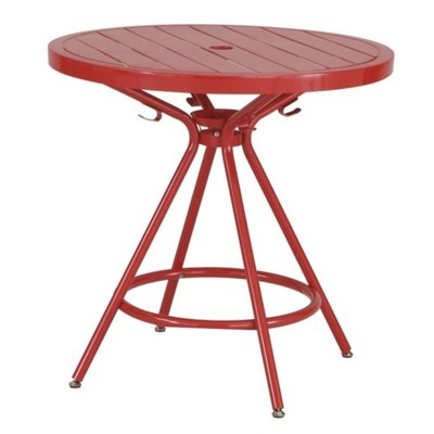 """Steel CoGo 30"""" Steel Patio Bistro Table in Red-Safco"""
