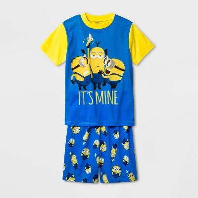 Boys' Minions 2pc Pajama Set - Yellow/Blue