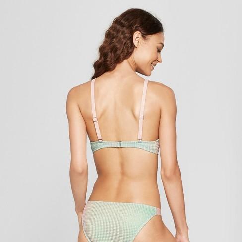 5e45820b6c Women s Textured Metallic Bralette Bikini Top - Xhilaration™ Metallic Multi  S   Target