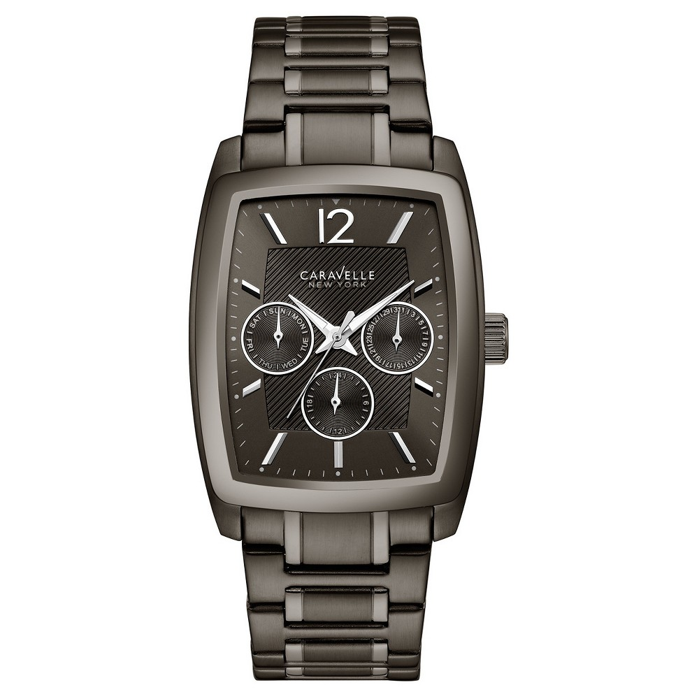 Image of Men's Caravelle New York Analog Watch - Black, Size: Small, Gray