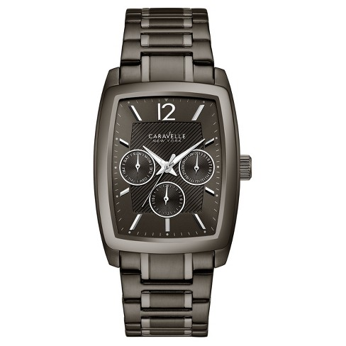 Men's Caravelle New York Analog Watch - Black - image 1 of 3