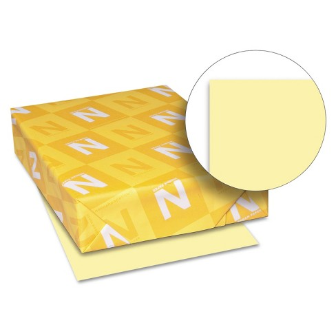 Neenah Paper Exact Index Card Stock 110 lbs. 8-1/2 x 11 Canary 250 Sheets/Pack 49541 - image 1 of 2