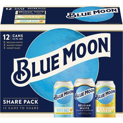Blue Moon Variety Share Pack - 12pk/12 fl oz Cans