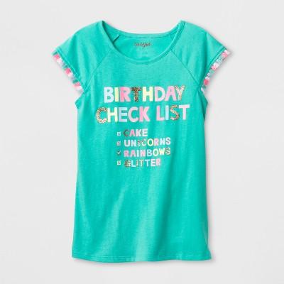 Girls Short Sleeve Birthday Checklist T Shirt