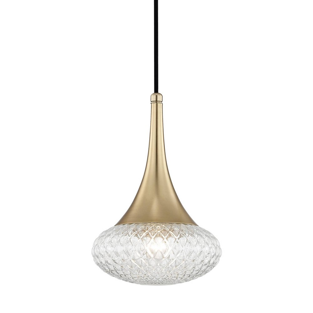 Bella 1-Light Pendant Chandelier Style C Aged Brass - Mitzi by Hudson Valley Coupons